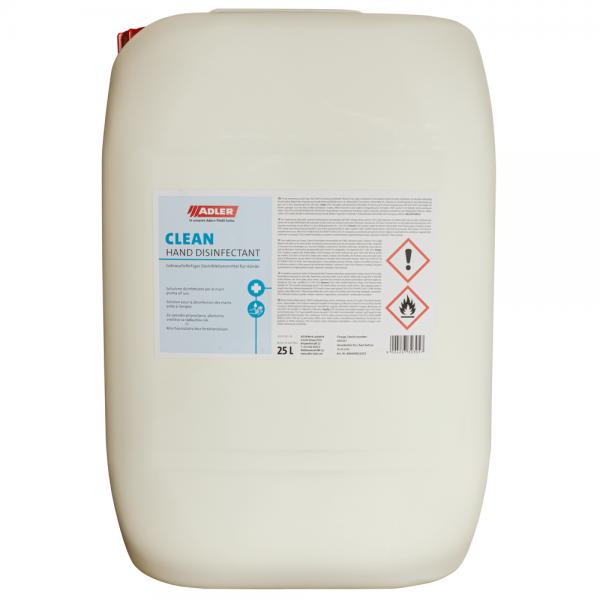 ADLER Clean Hand Disinfectant Händedesinfektion 25 Liter Kanister
