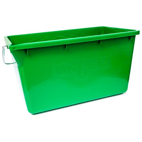 Eimer mit Ablage, rechteckig, grün, 18 Liter
