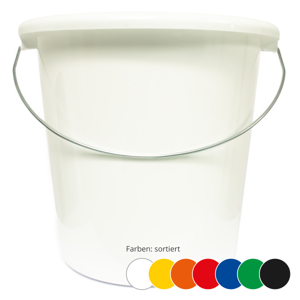 Eimer 10 Liter, färbig (sortiert)