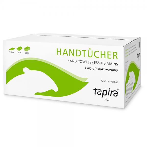 """Tapira Papierhandtücher """"Pur"""" 1-lagig - 5000 Blatt"""