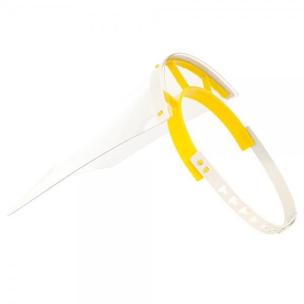 Schutzvisier / Gesichtsschutz, gelb/grau