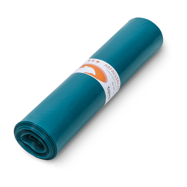 Tapira Müllsäcke, LDPE 120L, blau, 25 Stück/Rolle