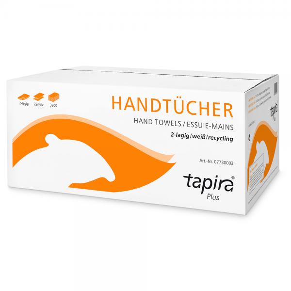 "Tapira Papierhandtücher ""Plus"" 2-lagig - 3200 Blatt"