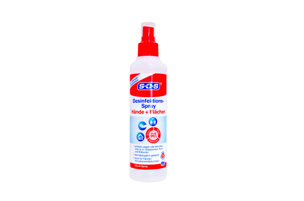 SOS Desinfektionsspray Hand- & Flächendesinfektion 250ml