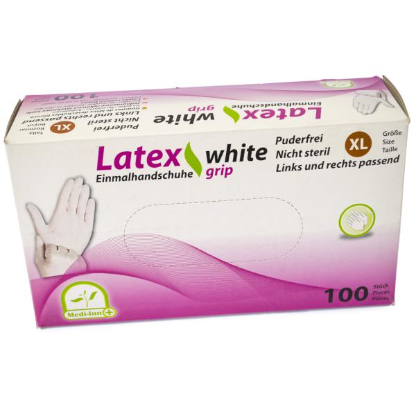 "Medi-Inn Latex Einmalhandschuhe ""white grip"", ungepudert"